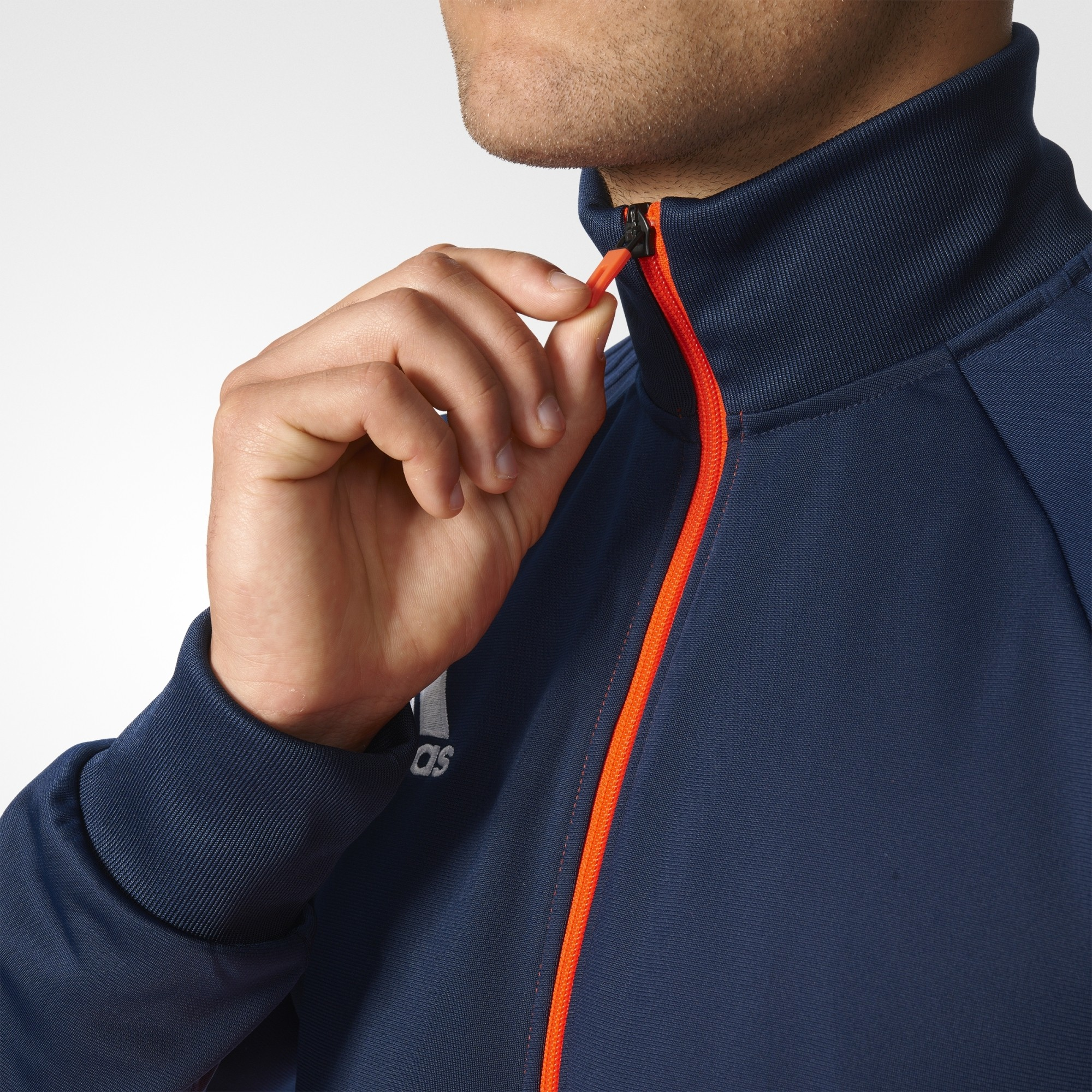 Adidas bluza tiro17 training granatowo pomarańczowa BQ2601
