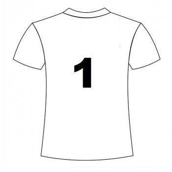 nadruk na koszulce- Numer